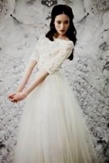 Modest Wedding Dress 3 4 Sleeve 2018 2019