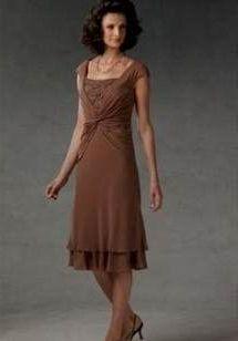 mother of the bride dresses tea length plus size 2018-2019