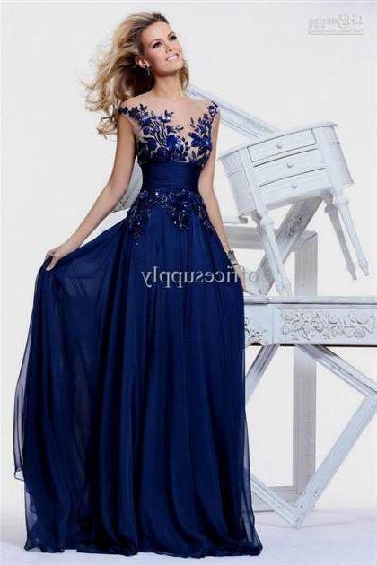 Navy Blue Wedding Dresses With Sleeves 2018 2019 B2B Fashion