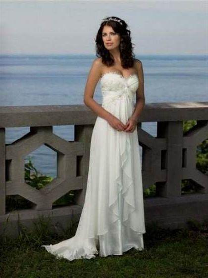 Off White Simple Wedding Dresses 2018 2019