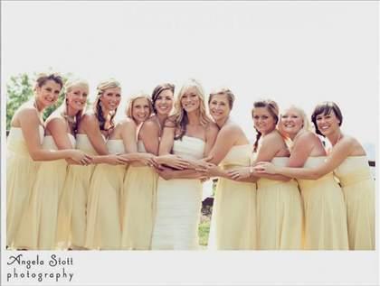 Pastel Yellow Bridesmaid Dresses 2018 2019