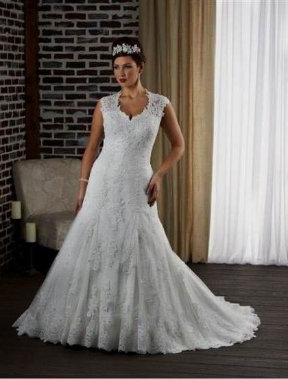 plus size fit and flare wedding dresses with sleeves 2018 ...