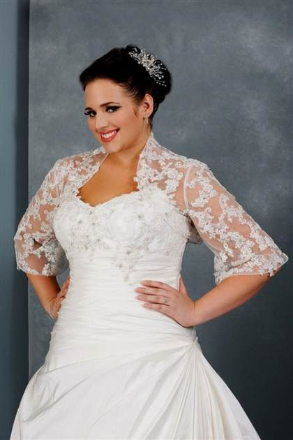 plus size wedding dresses with sleeves or jackets 2018/2019 ...