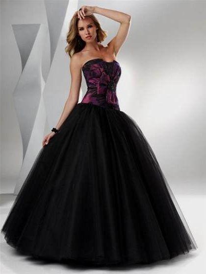 Purple and black wedding dress 2018 2019 b2b fashion for Purple and black wedding dresses