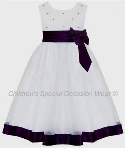 purple and white flower girl dresses 20182019 b2b fashion