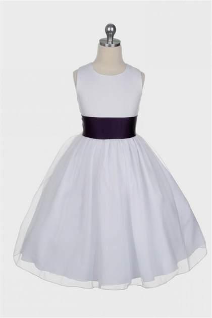 purple and white flower girl dresses 20182019 b2b fashion