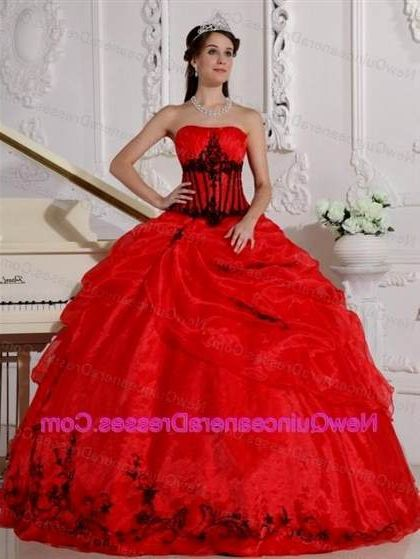 e8b8627d52d quinceanera dresses red and black and gold 2018 2019