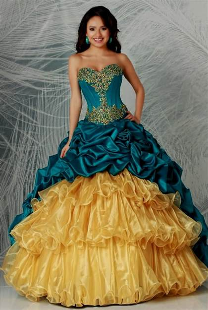 quinceanera dresses royal blue and gold 2018/2019 | B2B ...