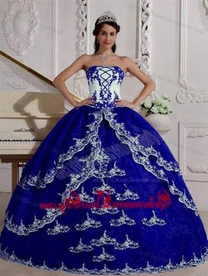 b432ec4d31 quinceanera dresses royal blue and white 2018 2019