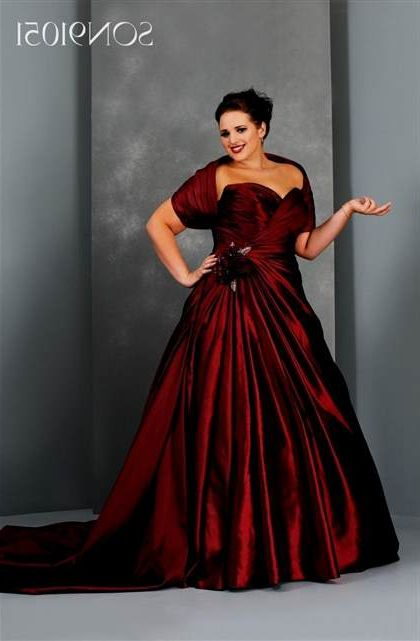 Red And Black Plus Size Bridesmaid Dresses 2018 2019 B2b Fashion