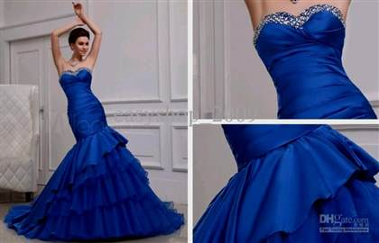 Royal Blue Mermaid Wedding Dresses 2018 2019