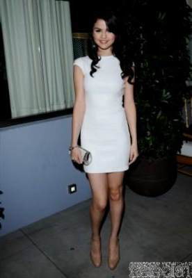 selena gomez white dress   bb fashion