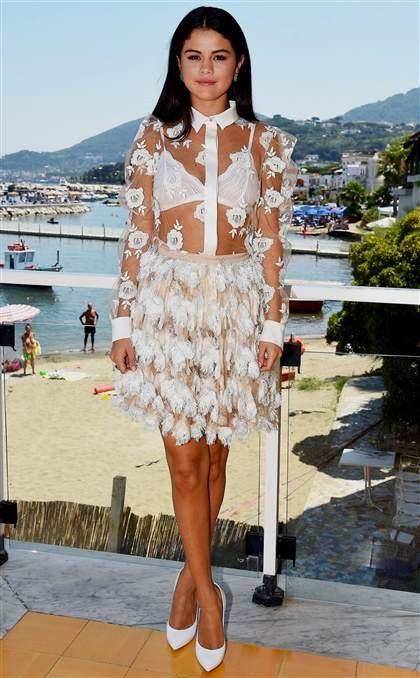 Selena Gomez White Dress 2018 2019 B2b Fashion