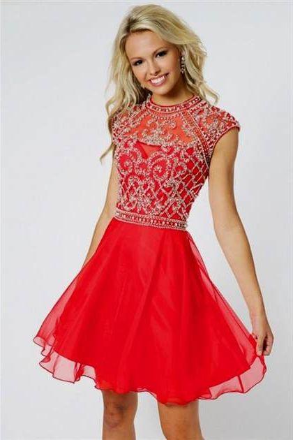 short red prom dress