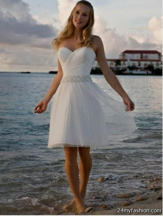 Short Y Beach Wedding Dress 2018 2019