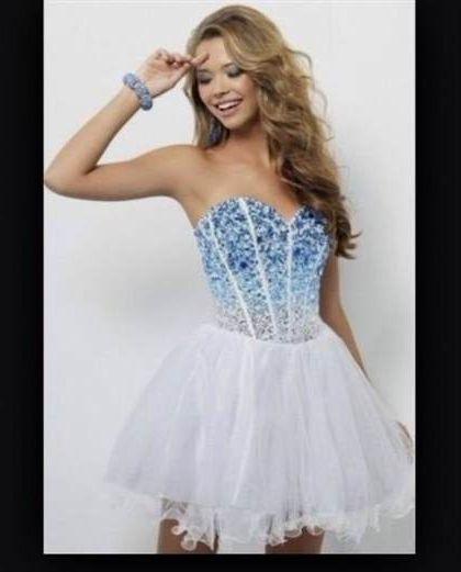 short white and blue prom dresses 2018-2019 | B2B Fashion