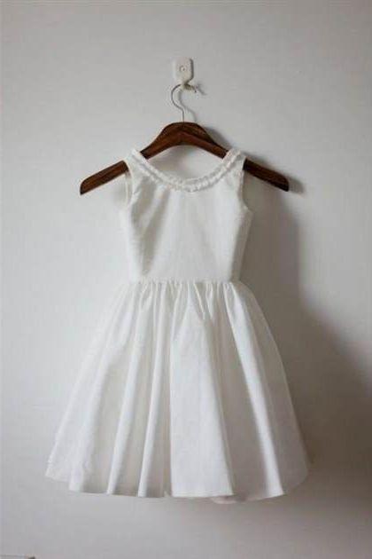 Simple cotton flower girl dresses 20182019 b2b fashion simple cotton flower girl dresses 20182019 mightylinksfo