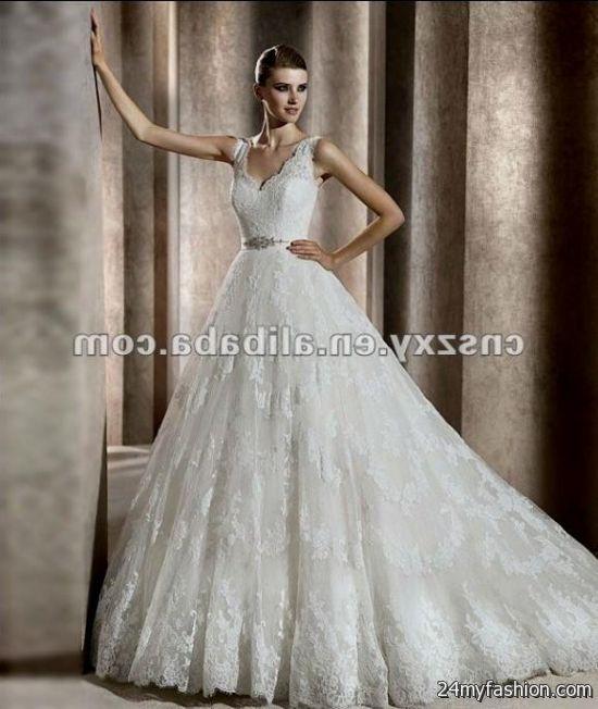 Spanish Lace Wedding Gown: Spanish Lace Wedding Dress 2018-2019
