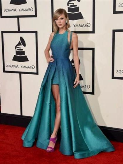 Taylor Swift Blue Dress Grammys 2018 2019 B2b Fashion