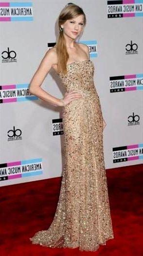 Taylor Swift Sparkly Gold Dress 2018 2019 B2b Fashion