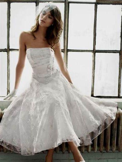 tea length wedding dresses david's bridal 2018-2019   B2B ...