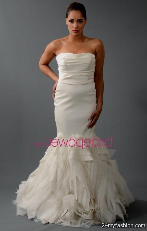 vera wang mermaid wedding gowns 2018-2019