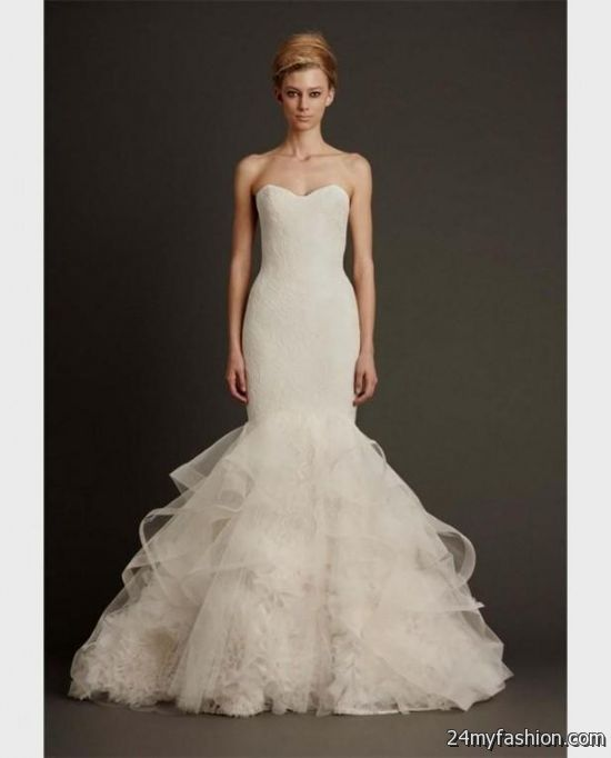 vera wang mermaid wedding gowns 2018-2019