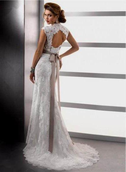 vintage lace wedding dress open back 2018/2019   B2B Fashion