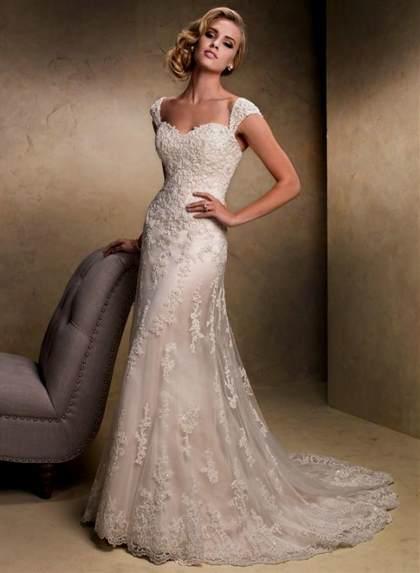 af36bd00735 vintage lace wedding dresses with capped sleeves 2018 2019