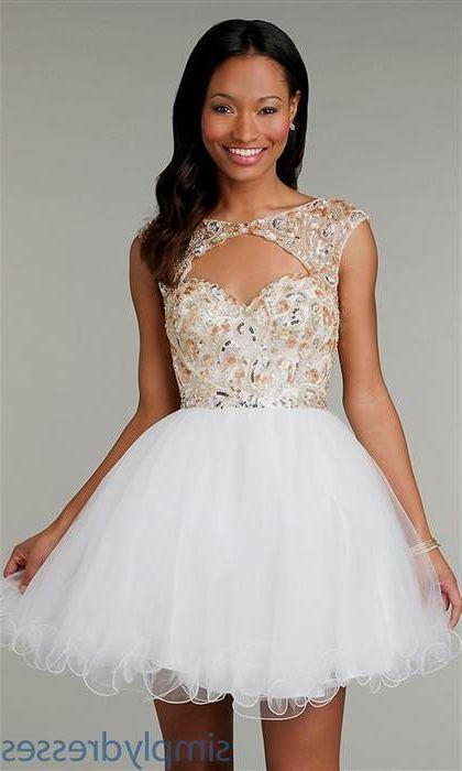 Short Prom White Dresses 2018