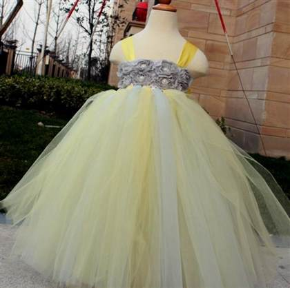 Yellow and grey flower girl dresses 2018 2019 b2b fashion yellow and grey flower girl dresses 2018 2019 mightylinksfo
