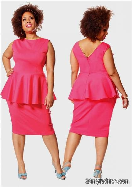 plus size pink peplum dress review | B2B Fashion
