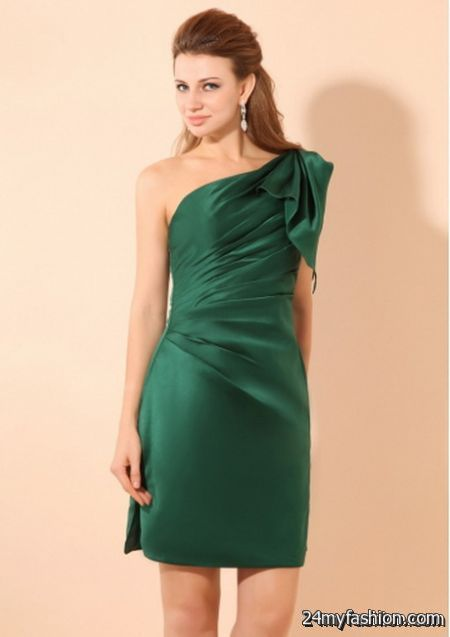 Dark green cocktail dress review
