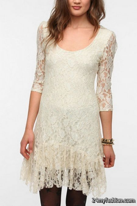 Lace ruffle dress review