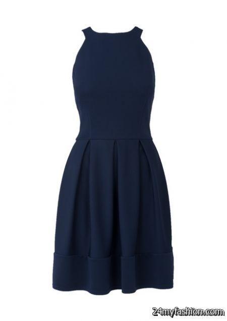 Navy blue summer dress review