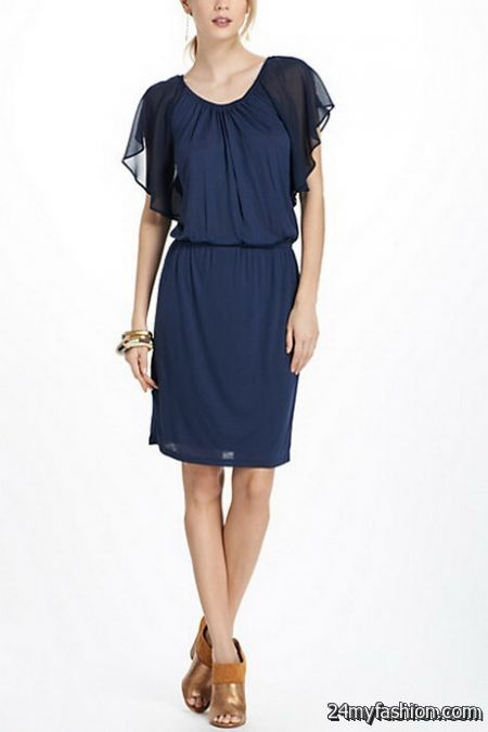 Navy blue summer dress review
