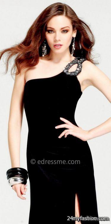 One shoulder black dresses review