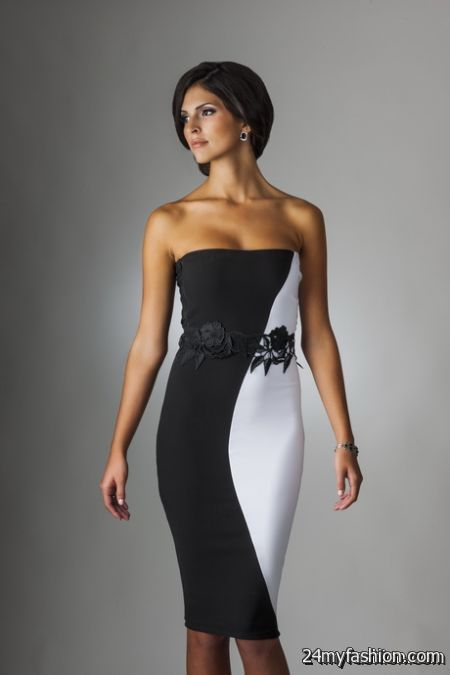 Sexy black and white dress review