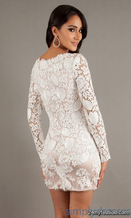 White lace dress short review