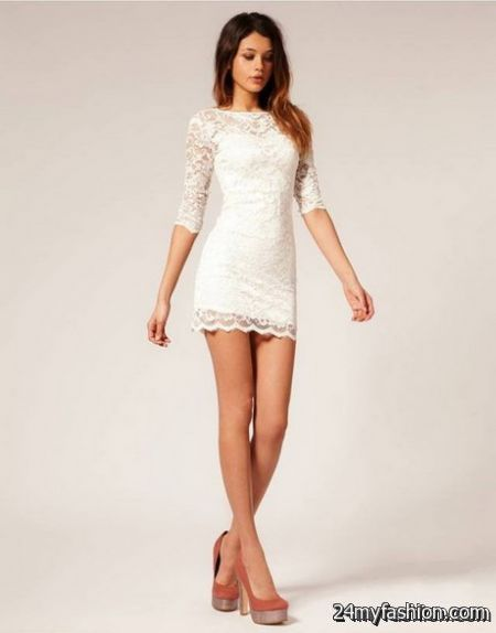 White lace dress with sleeves review