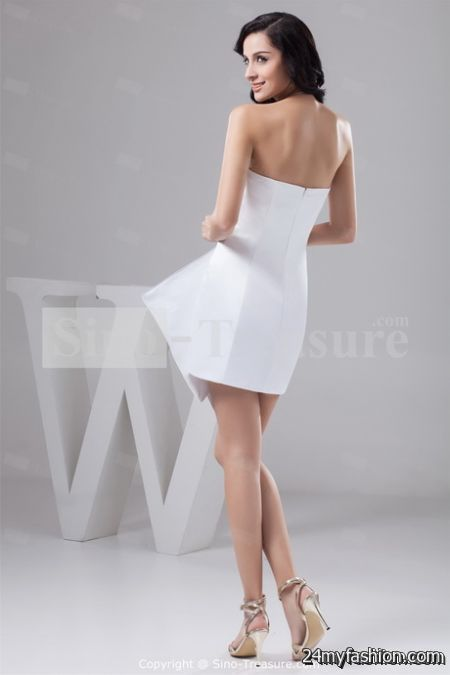 White strapless cocktail dresses review