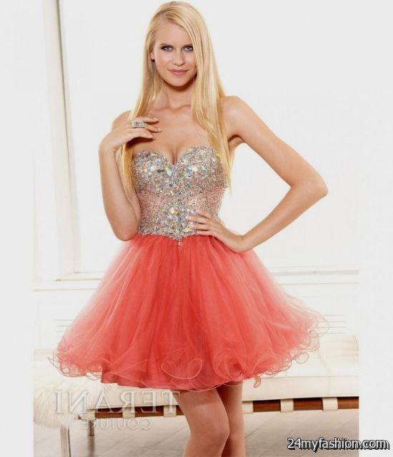 Coral Short Formal Dresses Review B2b Fashion
