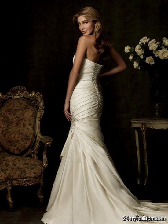 strapless mermaid wedding dresses with corset back review   B2B Fashion