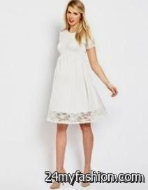 white maternity dress for baby shower review