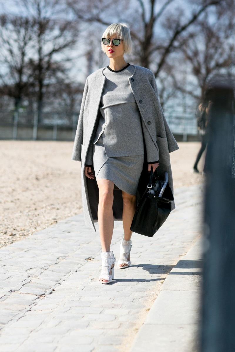 0c8e6d47466 PFW Day Four The Best Street Style Snaps From Paris Fashion Week POPSUGAR  Fashion UK - Fashion Week