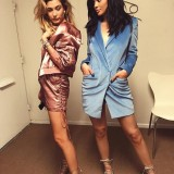 Kylie-Jenner-Instagram-Barbara-Bui-Pre-Fall-2016-Soft-Blue-Velvet-Blazer-Dress-and-Monika-Chiang-Vesta-Sandals-in-Silver-Mesh-Calf-4