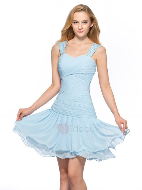 4595e16643b Sweet Straps Bowknot A Line Short Homecoming Dress 10980090 Sweet 16 Dresses  Dresswe.Com - Fashion Week