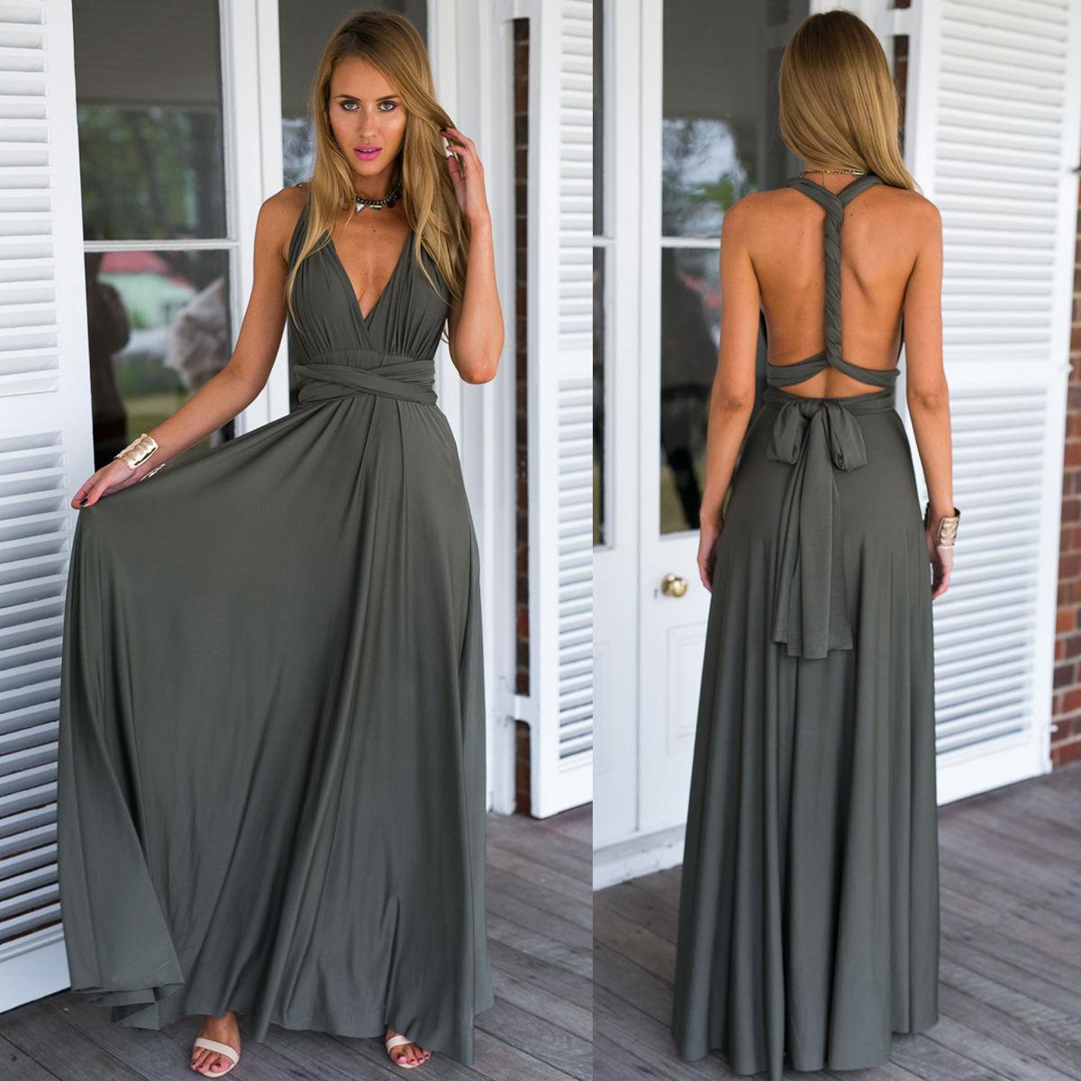 Great Women Maxi Dress Convertible Multi Way Wrap