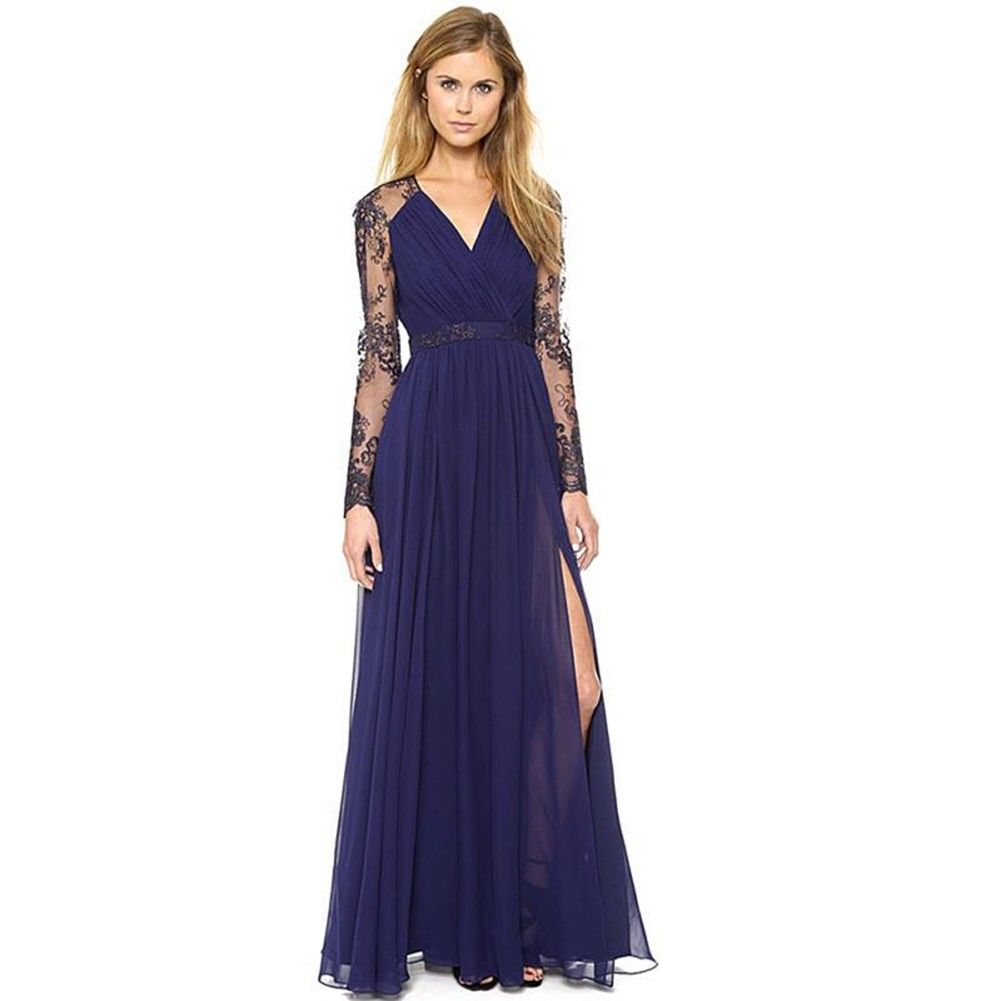 Awesome Women Long Chiffon Formal Evening Prom Party