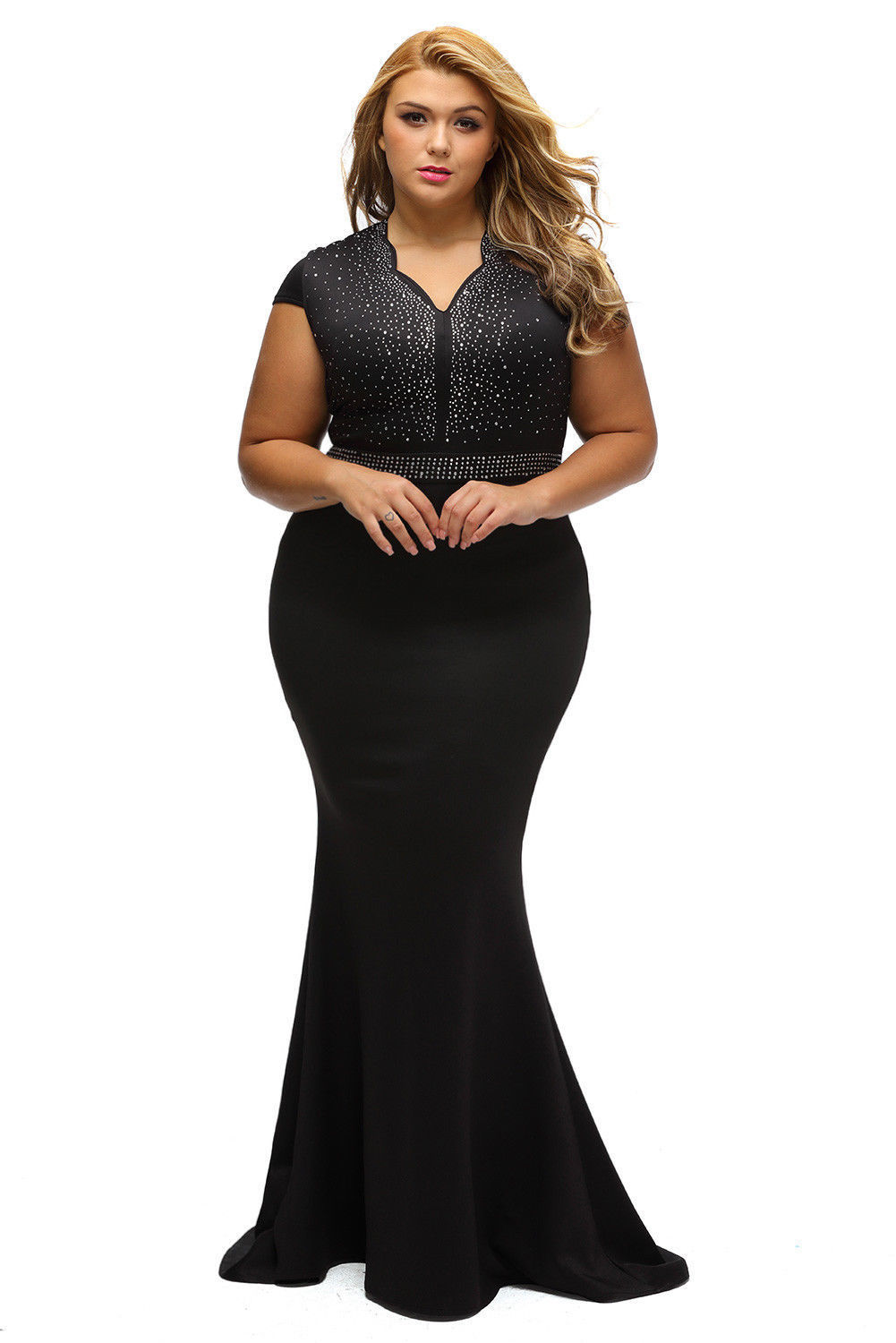 f1d0be8f15a Awesome US Plus Size Women Bridesmaid Ball Gown Prom Evening Party Cocktail  Maxi Dress 2019